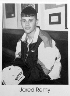 Jared Remy, shown in his 1994-95 yearbook
